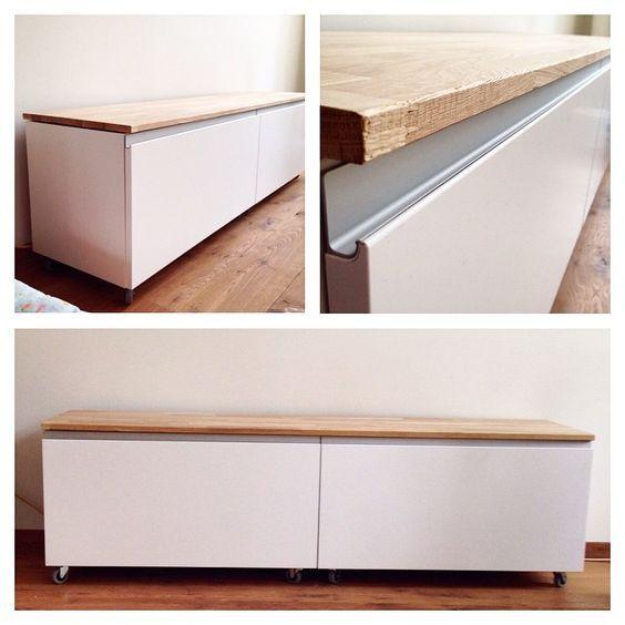 #IKEA #IKEAhack - 2 METOD cabinets with NODSTA doors Idee für den Flur - Schuhaufbewahrung und Sitzbank?: