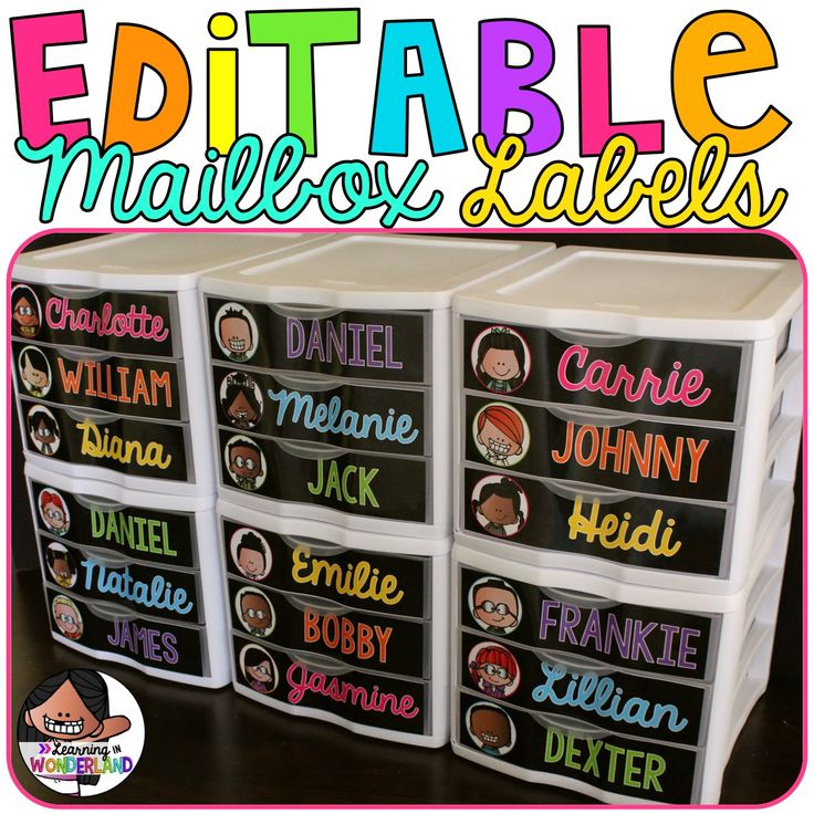 Identify Tags | Editable Mailbox Labels | Sterilite Drawer Labels | Classroom Decor