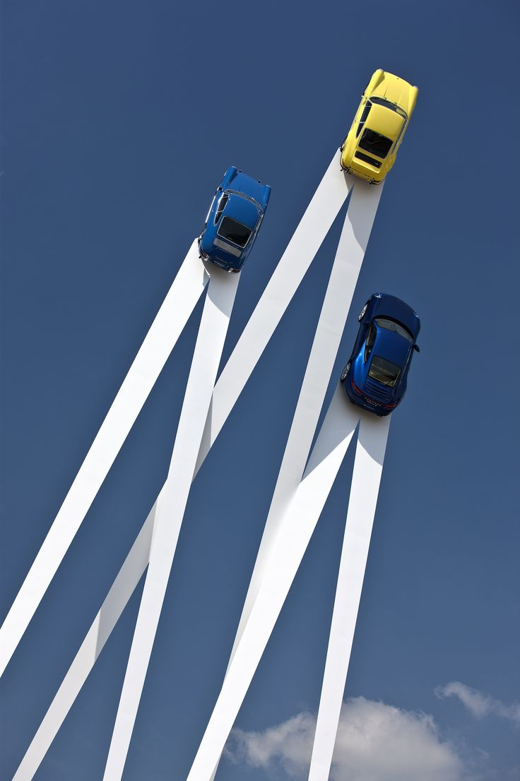 Sky-High Porsche Sculpture by Gerry Judah to commemorate the 50th anniversary of the 911