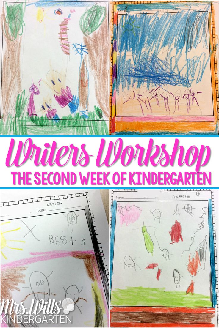 What does writers workshop look like on the second week of school? Check out these kindergarten writers workshop tips!