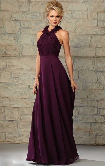 Perfect Chiffon Grape Bridesmaid Dresses BNNCA0008-Bridesmaid UK