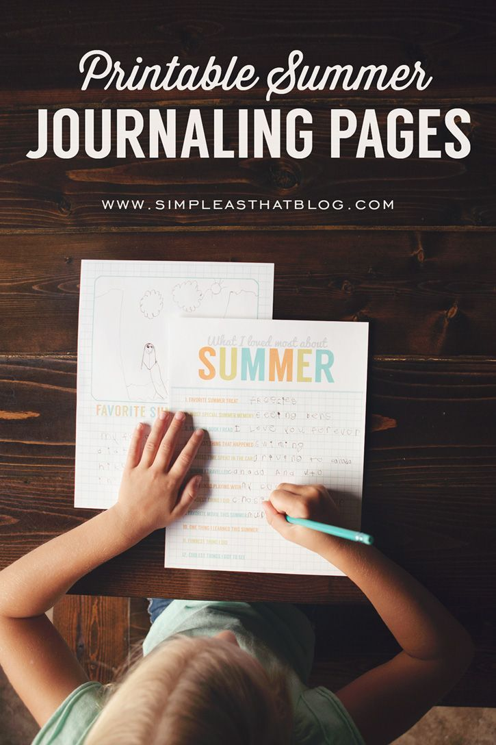 Use these free printables to help your child record their favorite summer memories. Love the idea of kids keeping a summer journal!