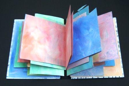 'nieuw' dagboek van oude wenskaarten (tutorial)