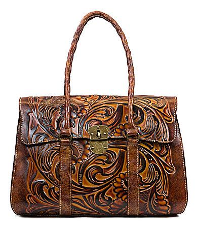Patricia Nash Tuscan Tooled Collection Vienna Satchel #Dillards