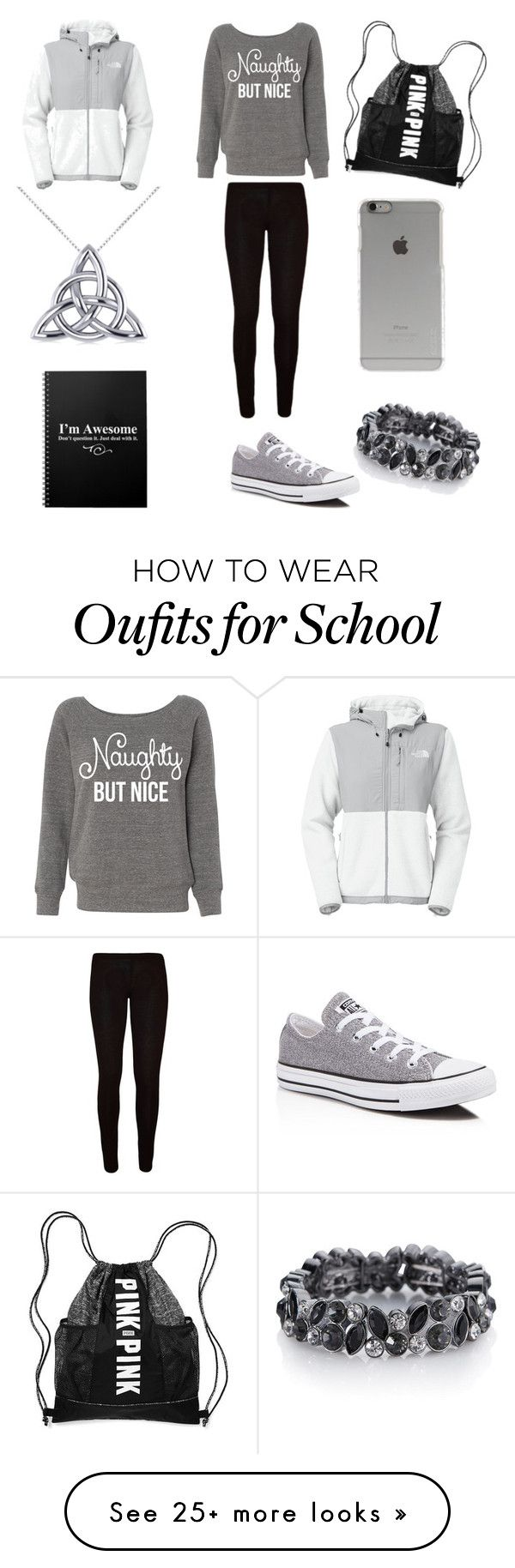 """""""Casual School Outfit #2"""" by brianawest on Polyvore featuring mode, The North Face, Converse, Incase, The Limited et Allurez"""