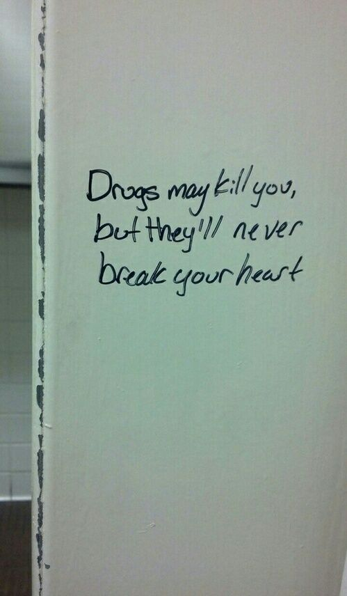 Drugs Quote And Heart Image