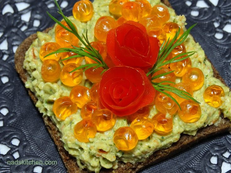 Veggie Spread Appetizer Topped with Caviar Recipe on Yummly. @yummly #recipe