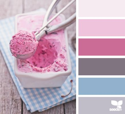 Bedroom paint. Grey for carpet, light grey for sheets, light blue for paint color, pinks for cherry blossoms.