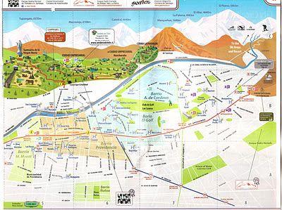 Mapa de Santiago do Chile