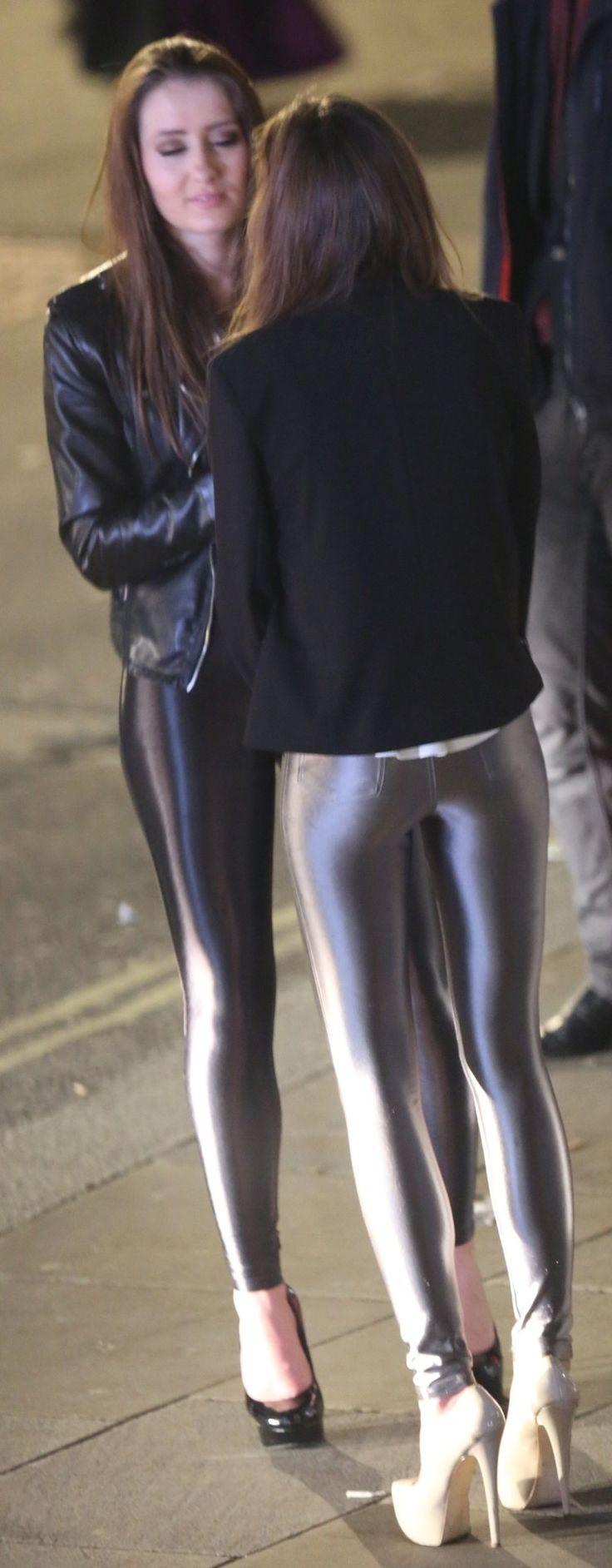 Yoga pants and heels bondage