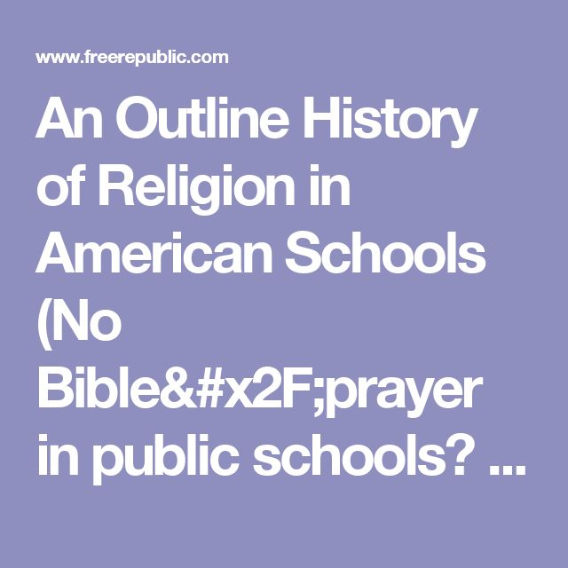 faith freedom and the public school There is a common misconception that teaching about the bible and christianity is not allowed in a public school classroom liberty affecting you and your students information about your state's academic standards regarding teaching about religion online professional development: faith, freedom & public schools.