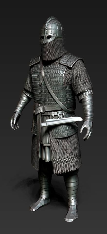 Viking vendel armor  Varangian  Chain mail and lamellar armor