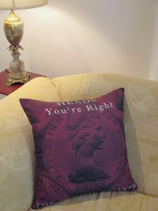 The Righteous Cushion - #throw pillows. Cushions and Covers by Chelsea Design NZ