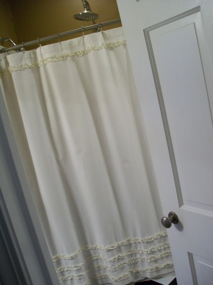 52 best images about curtain shower on pinterest for Master bathroom curtains