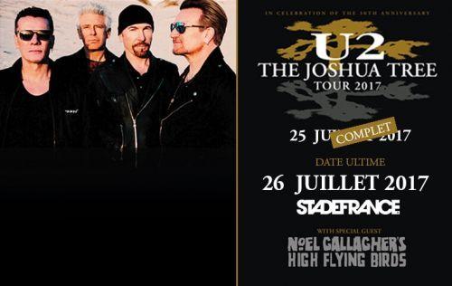 Grande nouvelle pour moi !!! Big news !!! Je vais assister au concert de U2 au Stade de France pour la seconde date le mercredi 26 juillet pour le Joshua Tree Tour 2017 !