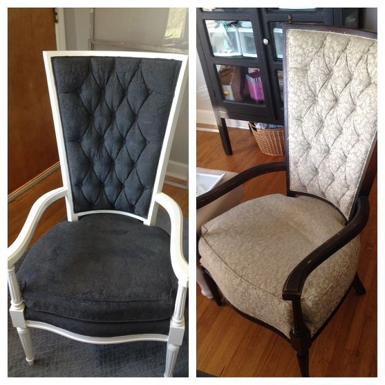 The Painted Fabric Chairs!  favorite paint blog for fabric
