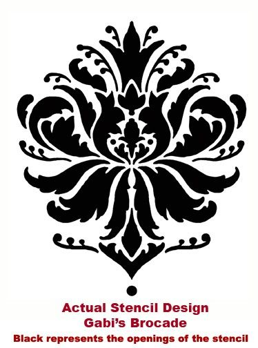 Damask Stencil Gabi's Brocade MED - stencils for walls, furniture and fabric. $37.95, via Etsy.