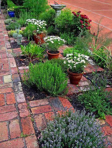 Chequerboard herb garden
