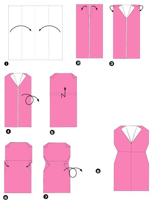 Diagramme d'origami de tailleur