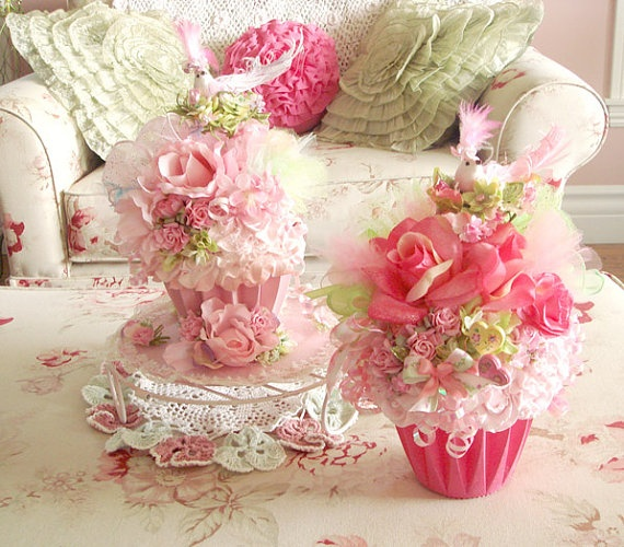 so prettyCupcakes Centerpieces, Giants Cupcakes, Candies Cupcakes, Floral Cupcakes, Holy Cupcakes, Cupcakes Teas, Teas Parties Cupcakes, Tea Parties, Cupcakes Cookies Sweets