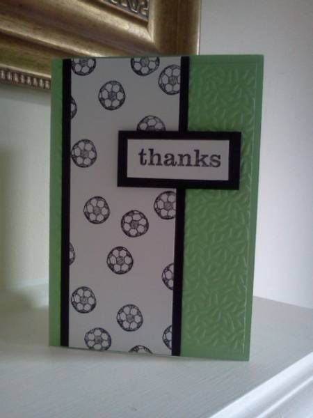 Soccer Coach Thanks by Sarah B - Cards and Paper Crafts at Splitcoaststampers