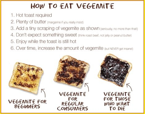 How to eat Vegemite | I've had it when I was very young. I remember it being much too salty