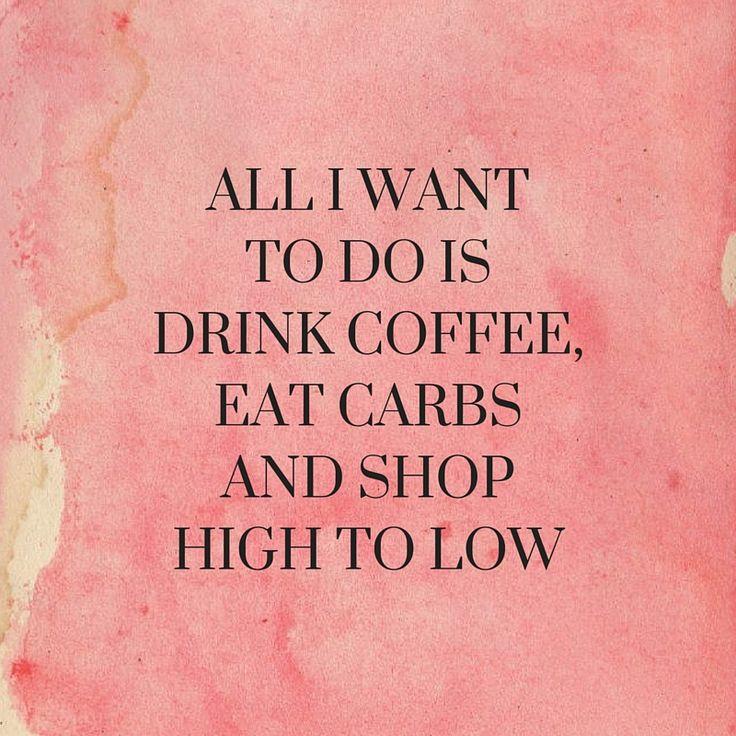 Coffee, Carbs, Shop.