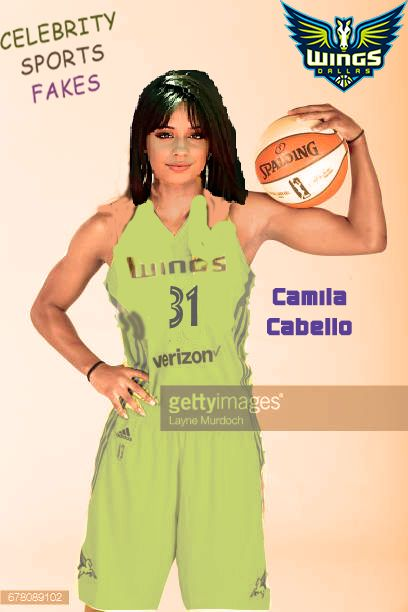 CELEBRITY SPORTS FAKES - Camila Cabello of the WNBA Dallas Wings poses for portraits on May 2 2016 at College Park Center in Arlington Texas