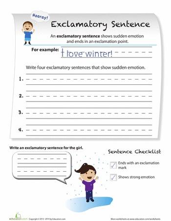 exclamatory sentences for the boys school worksheets first grade worksheets 2nd grade. Black Bedroom Furniture Sets. Home Design Ideas