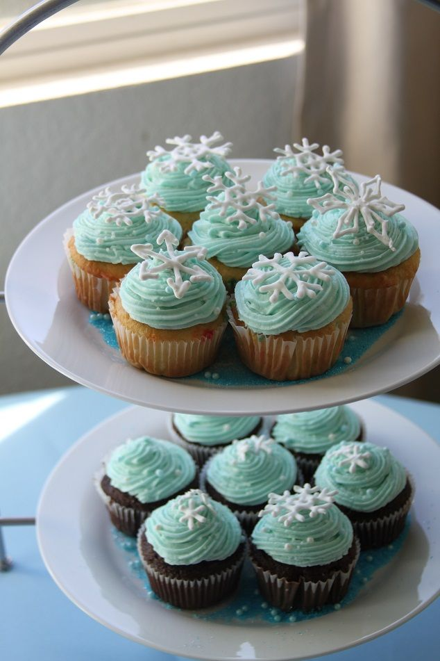 Winter Wonderland Baby Shower  Cupcakes