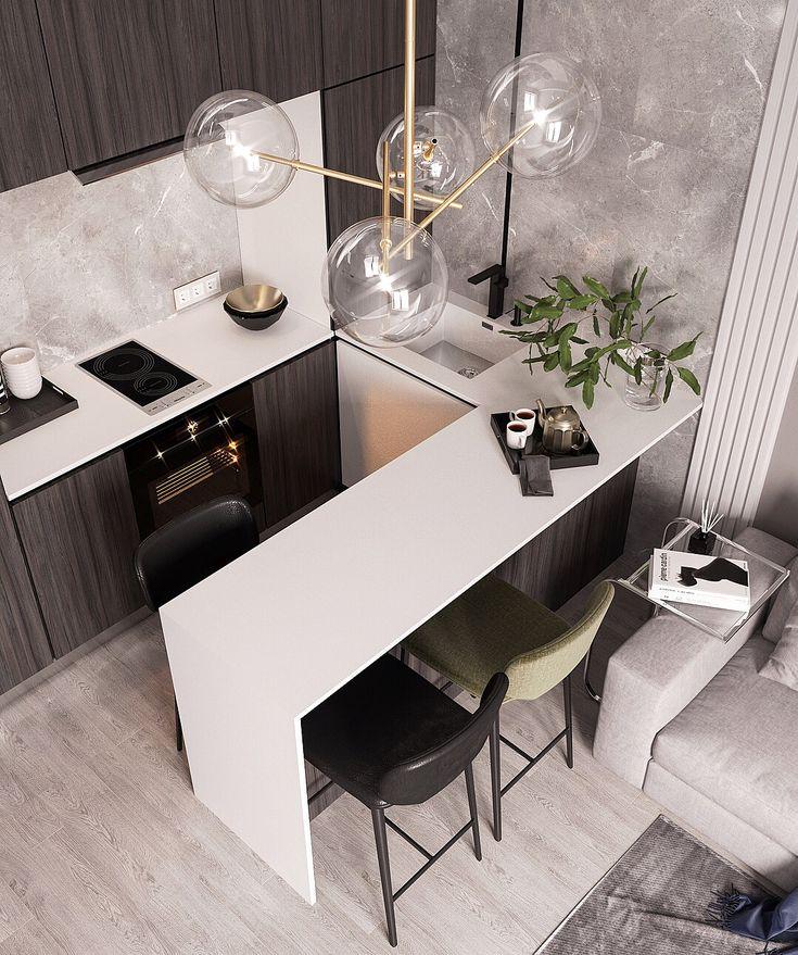 721 отметок «Нравится», 34 комментариев — ▪️Y A N A D E M I D O V I C H (@yanademidovich) в Instagram: «Небольшой экскурс по организации пространства в кухне, в моем #малогабаритном проекте. Листайте…»