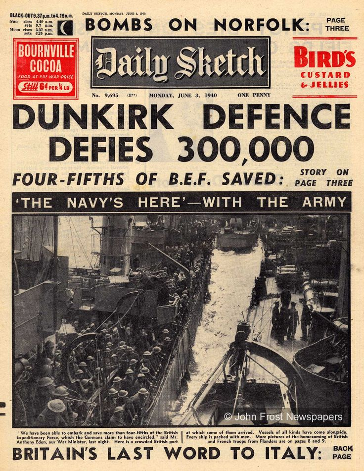 """This Day in History: Jun 4, 1940: Dunkirk evacuation ends & Winston Churchill delivers his famous """"We shall fight on the beaches"""" speech.  http://dingeengoete.blogspot.com/2013/06/this-day-in-history-jun-4-1940-dunkirk.html"""