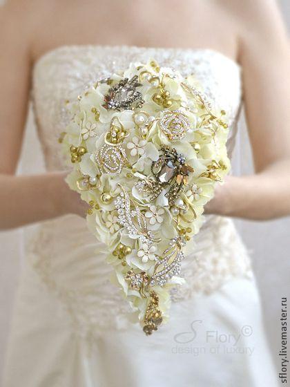 "Брошь-букет невесты ""Флоренция"". Handmade."