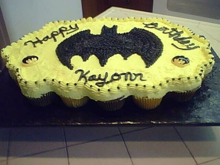 Batman Cupcake Cake chocolate and lemon cupcakes with batman symbol