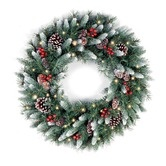 Found it at Wayfair - Pre-Lit Frosted Berry Wreath