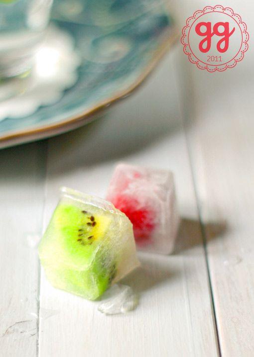 cubetti di ghiaccio alla frutta