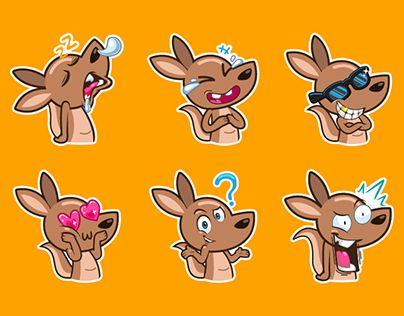 "Check out new work on my @Behance portfolio: ""kangaroo stickers"" http://be.net/gallery/44935509/kangaroo-stickers"