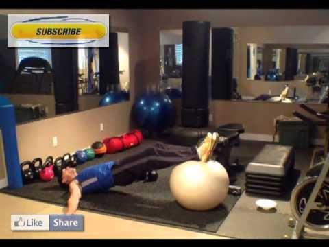 Calgary Personal Trainer Swiss Ball Hamstring Curls Tutorial. How to by ...