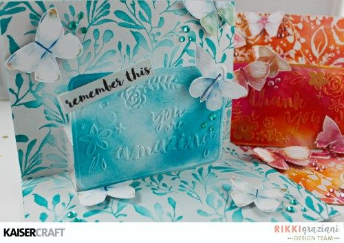 Kaisercraft Design Team Group Post. Wildflower You are Amazing Pop Up Card with Dry Embossing.view A by Rikki Graziani DT member for Kaisercraft. Featuring New March 2017 Product   Wildflower collection & You are Amazing &Thank you Embossing Folders  Learn more at laisercraft.com.au/blog ~ Wendy Schultz ~ Cards 1.