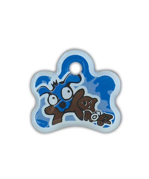 ROGZ INSTANT ID TAG FOR PUPPIES - BLUE. Available from Nuzzle.co.za