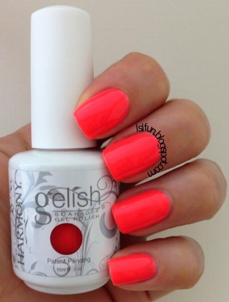 Gelish - Rockin' the Reef (NEON, bright coral) <3!!!