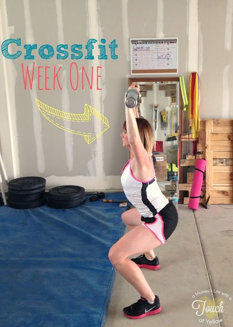 Crossfit week one plus a gym in our garage why