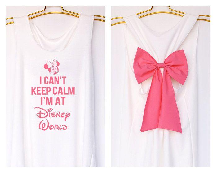 I'can keep calm i'm at Disney world MinnieTank Premium with Bow : Workout Shirt - Keep Calm Shirt - Tank Top - Bow Shirt - Razor Back Tank by DollysBow on Etsy https://www.etsy.com/listing/199323812/ican-keep-calm-im-at-disney-world