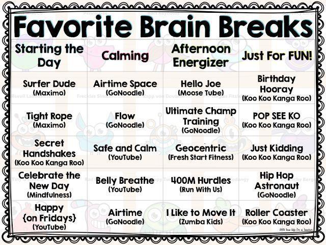 c83babea1638d50e7f685d86f3f5a4b8  brain gym brain break - Kindergarten Brain Break