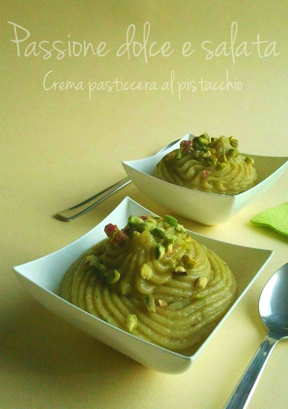 crema pasticcera al pistacchio