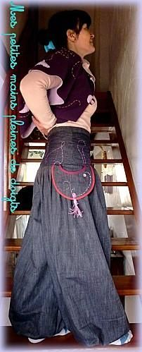 Free tutorial for baggy pants. Tuto : Pantalon bouffant