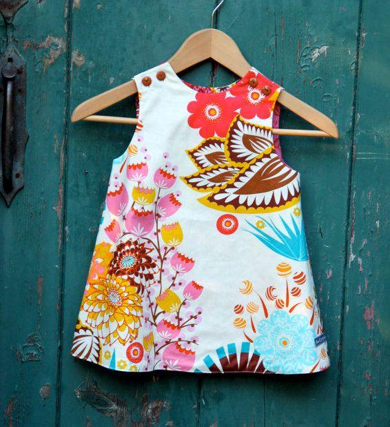 GEDRUKTE patroon: Ruby Ruffle jurk - originele gedrukte naaien patroon - Size 6…