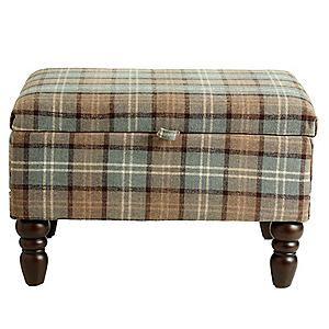 Shetland Grey Storage Footstool