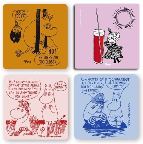 Moomin too close coaster set by Opto Design