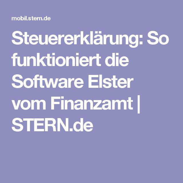 Steuererklärung: So funktioniert die Software Elster vom Finanzamt | STERN.de – Stu Anersch